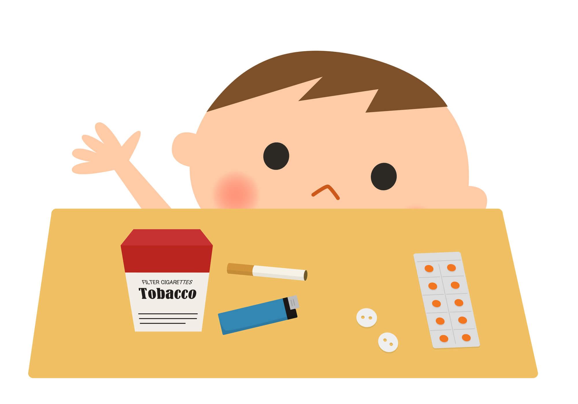 飲 赤ちゃん タバコ 誤